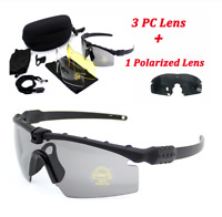 Men Sport Sunglasses ICE Military Safety Glasses Shooting Tactical Army Lens Set