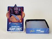 1992 Hamilton Star Trek Next Generation Porcelain Trading Card Lt. Klingon Worf