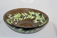 Large Laurie Gates Pasta Salad Serving Bowl Black Olive Patterns GATES WARE