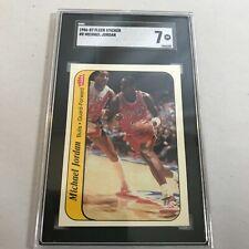 1986 1987 Michael Jordan Fleer Rookie Sticker #8 Graded SGC 7