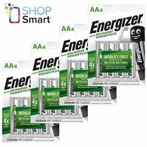 16 ENERGIZER RECHARGE POWER PLUS AA HR6 BATTERIES 1.2V 2000mAh MIGNON STILO NEW