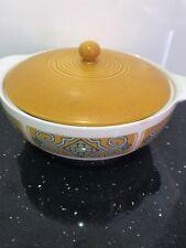 Myott England Legend, Vintage Covered Serving Dish/Tureen, Aztec Design, Retro