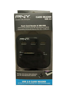 PNY Flash Card Reader & USB Hub, New In Package