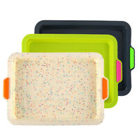 Silicone Square Bread Mold Cake Pan Muffin Mould Bakeware Baking Tray Tool·
