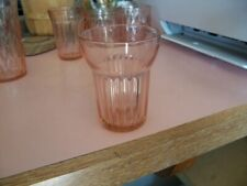 "Hocking Queen Mary 3 1/2"" pink 5 oz juice tumbler"
