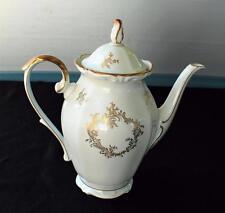 "Vintage 1955 SCHWARZENBACH Bavaria Western Germany Gold Decor 12""h Coffee Pot"
