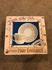 Mary Engelbreit Time for Tea Cup and Saucer Set Collectible Home is.Heart Nib
