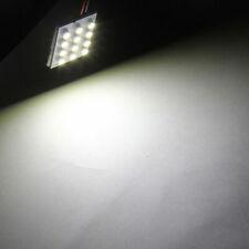 10 x Light Panel 12 SMD LED 42mm Dome Festoon Bulbs Reading Light Warm White