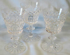 Webb Corbett Wafer Stem Sherry Goblets Unknown Pattern, set of 3