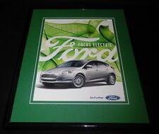 2016 Ford Focus Electric Framed 11x14 ORIGINAL Advertisement