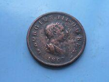 1807 George III Halfpenny, OK Grade.