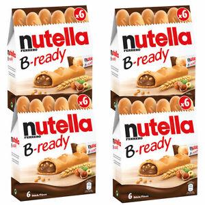Nutella B Ready Waffel Haselnuss Brotaufstrich Füllung 132g 4er Pack