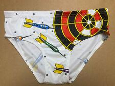 Vtg 70s Brut Darts Novelty Print Mens Brief Underwear