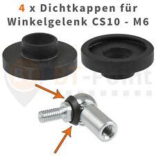 4 Dichtkappen für Winkelgelenk CS10 M6 DIN 71802 Neopren Dichtung Kugelgelenk