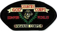 U.S. MARINES - GOD, COUNTRY, CORPS - IRON or SEW ON PATCH