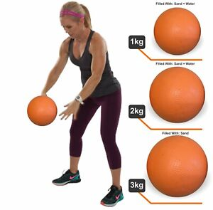 Slam Ball Crossfit MMA Fitness Medicine Training Gym Pilates No Bounce 1--2Kg