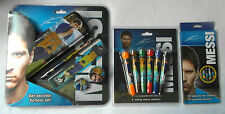 LEO MESSI - 3 Pk Set - 5pc School Set, 6 Stamp Markers, 12 Coloured Pencils