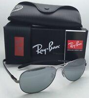 Ray-Ban Tech Sunglasses RB 8301 004/K6 Gunmetal Aviator with Polarized Blue-Grey