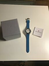 MICHELE Blue Turquoise Tahitian Jelly Bean Watch NEW IN BOX