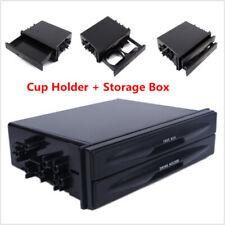 Universal Car Single /Double Din Radio Pocket Kit w/Drink-Cup Holder Storage Box