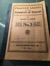 1929 Practice Leaves in the Rudiments of English Grammar Leaf Pages Punctuation