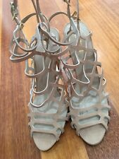 Lipstick Designer Vintage Retro Gladiator Style Kimbah Heel Shoes Size 10 41