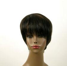 perruque afro femme 100% cheveux naturel méchée noir/cuivré JEAN 01/1b30
