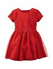 Carter's Baby Girls' Red Tulle Dress, Red, Size 24 Months, MSRP $38