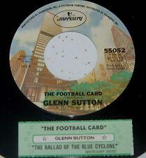 Glenn Sutton 45 The Football Card / The Ballad Of The Blue Cyclone  w/ts