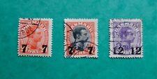 Stamp Denmark Danmark 1926 1927 King Christian. Sg#235/37. Surch. Used. #Od108