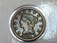 1851-P Braided Hair Liberty Large Cent Fine-061620-0003