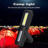 Portable USB Rechargeable LED COB lampe de Poche Lampe de Travail Nuit Pêche