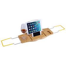 Verstellbare Badewannenablage Badewannenbrett Bambus Wannenbrücke Tablett 92cm