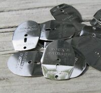Northland Bright Silver Crawler or Leech Harness Blade DIY Lot of 45
