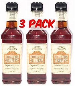 Samuel Willards Express Pre Mix - BUTTERSCOTCH SCHNAPPS 3 PACK, Spirits, EZ
