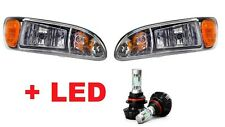 PETERBILT TRUCK 325 335 337 340 2000-2015 HEAD LIGHTS LAMPS PAIR W/LED BULBS