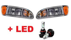 2009 2010 2011 2012 PETERBILT Headlight With LED Bulbs 6500K SET - PAIR