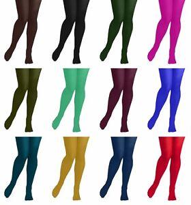 girls plain opaque tights