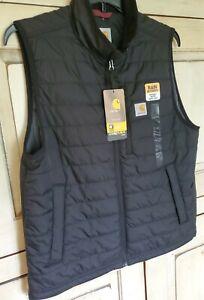 Carhartt Men's Gilliam Vest Regular Rain Defender Quilted Coat NWT! sz L Black