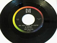 "Beatles 45 ""DO YOU WANT TO KNOW A SECRET"" VJ-587 Bracket Label"