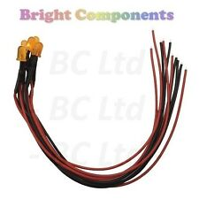 20 x Pre-Wired Orange LED 5mm Diffused : 9V ~ 12V : 1st CLASS POST