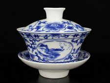 China Jingdezhen Hand-painted Flower Blue And White Porcelain Covered Bowl