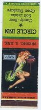 Vintage Pin-Up Matchbook, Circle Inn, Flattened with no Matches