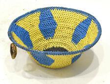 Basket African Zulu Plastic Wire Bowl Rsa
