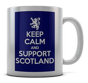 Keep Calm And Support Scotland Mug Cup Gift Idea Present Coffee Tea