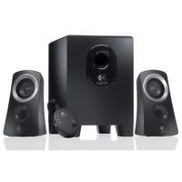 Logitech Z313 3 Piece 2.1 Channel Multimedia Speaker System - Black / Silver