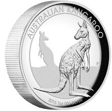 2016 Australian Kangaroo 1 oz Dollar $1 Silver Proof High Relief Coin Australia