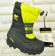 SOREL CUB Green Waterproof Kids Children Winter Snow Boots Pre-School 5 UK 23 EU
