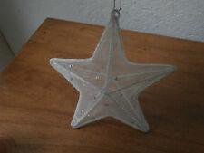 Palla decorazione albero Natale STELLA artigianale Christmas star ball