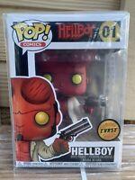 FUNKO POP! Hellboy CHASE NEW Horns, Mike Mignola, Dark Horse, Protector Rare